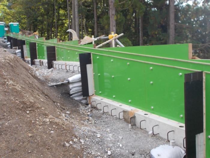 補強土壁天端コンクリート