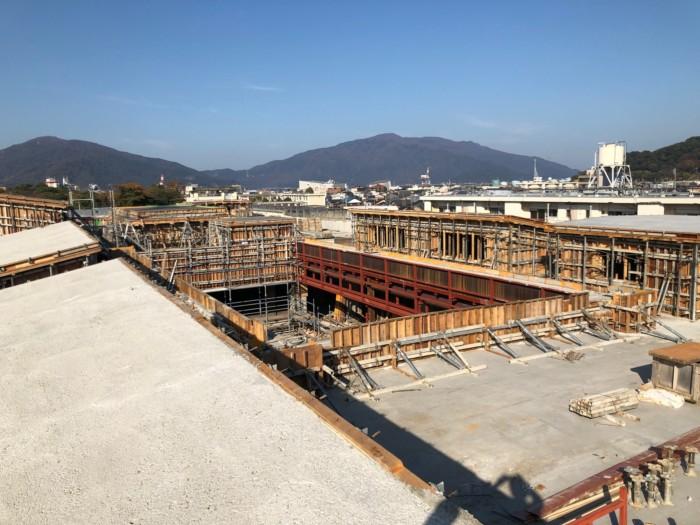 屋上コンクリート打設完了