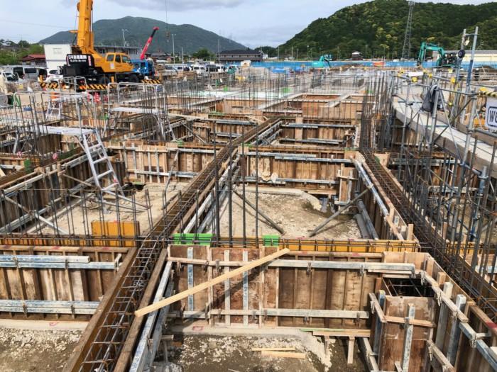 RC造基礎地中梁解体完了