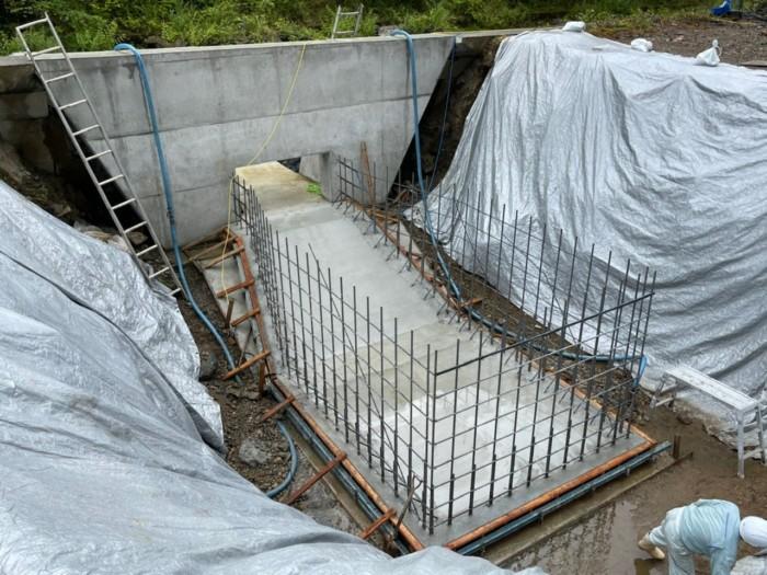 小水力発電所ボックスカルバート